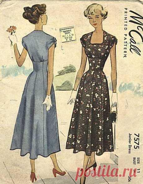 Очаровательная мода 40-х  #вдохновение
