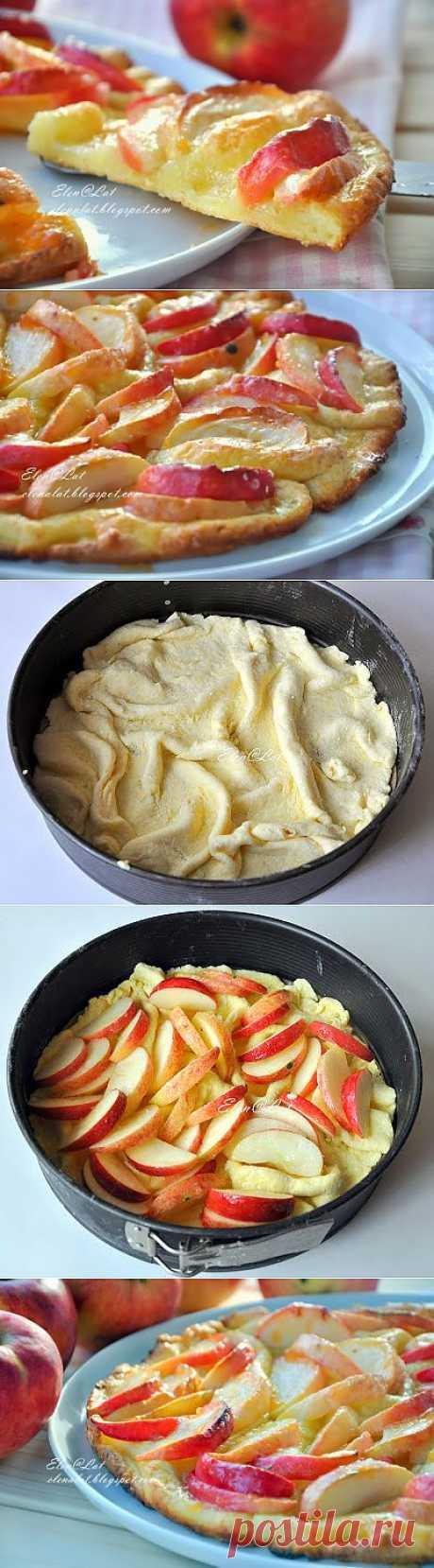 Sweet and not Sweet: Мятый яблочный пирог на творожном тесте