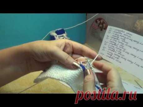 Вязание спицами пинетки кеды