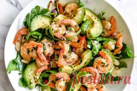 Салат из северных креветок с авокадо - пошаговый рецепт с фото