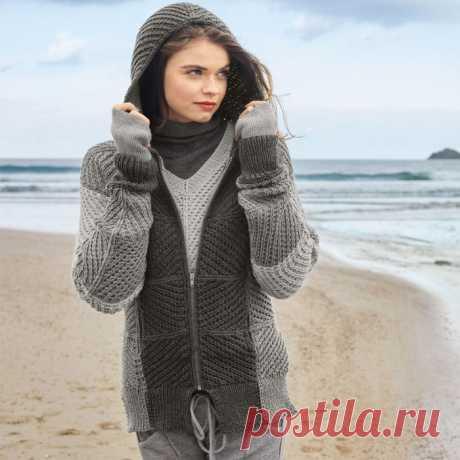 Теплая кофта с капюшоном и пуловер