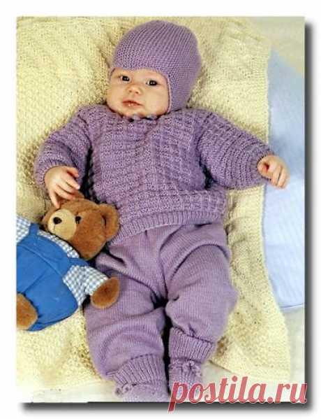 Вязание комплектов и комбинезонов для новорожденных