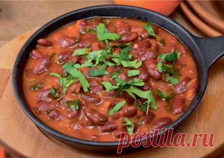 Лобио с помидорами, морковью и кинзой - Великий повар - пошаговые фоторецепты