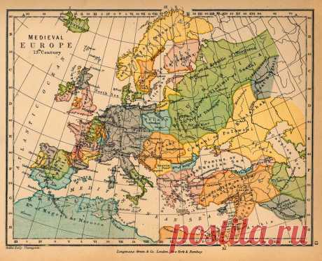 карты Европы 16 - 19 века: 25 тыс изображений найдено в Яндекс.Картинках