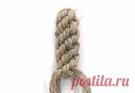 Китайский узел на четырех нитях (круг) — Макраме