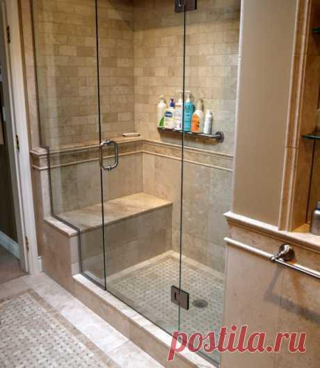Самодельные душевые кабины в ванной комнате: примеры на фото