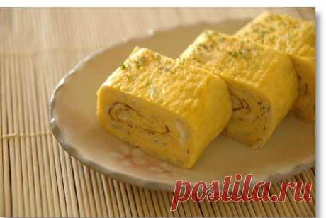 Яичный ролл (тамагояки) рецепт – японская кухня: завтраки