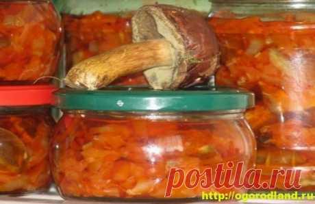 Грибная солянка с овощами на зиму. Пошаговый рецепт