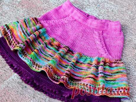 Вязаная юбочка для девочки от Elena Nodel