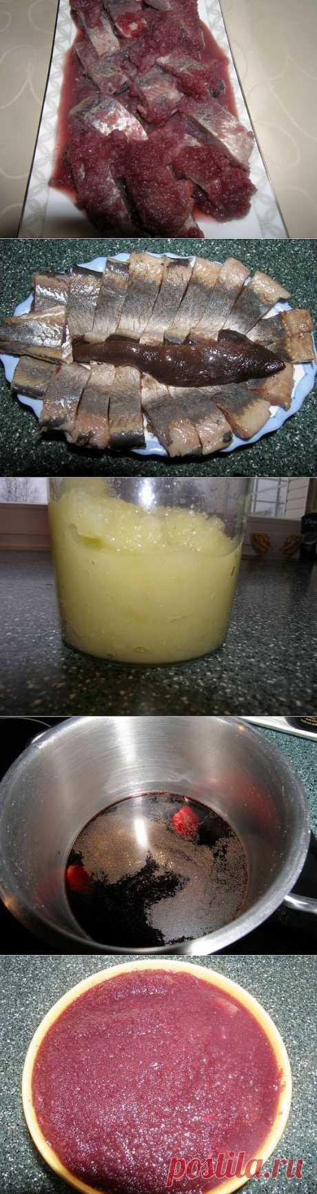 Сельдь в винном соусе по - нормандски
