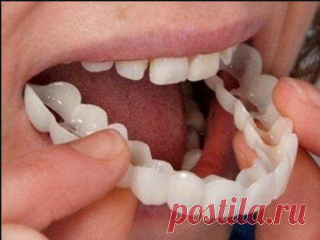Нет зубов – наденьте удобные виниры! Устанавливаются дома за 2 минуты, стоят копейки...  | обустройство дачи | быстрые рецепты