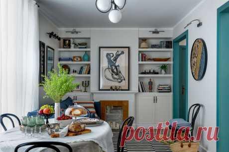 Пробковая стена и сокровища с Avito: квартира для молодой семьи в Одинцово — designchat.com Бюджет был ограничен, поэтому ни о каких «изысках» в виде лепнины, необычных обоев, новой дорогой мебели речи не было. Главной идеей нового пространства стало максимальное избавление жилых комнат от каких-то предметов быта.