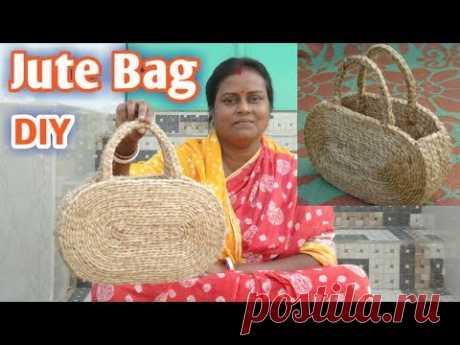 DIY Handmade Jute Rope Hand Bag | Make at home|| #Jute DIY