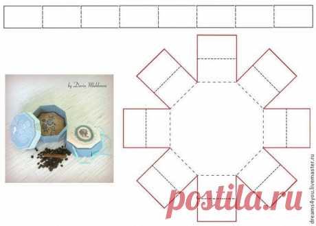 Мастер-класс: восьмигранная коробочка с двойным дном