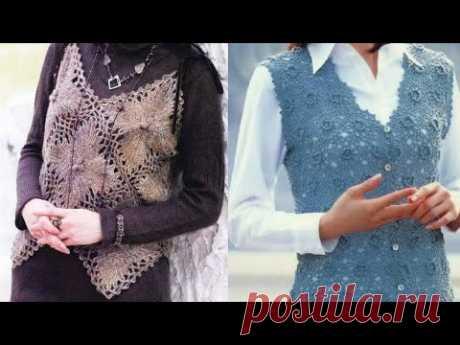 Жилетки крючком из японских журналов - Crochet vests from Japanese magazines