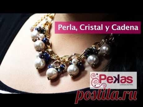 3516683be7aa Como hacer un Collar de Perla
