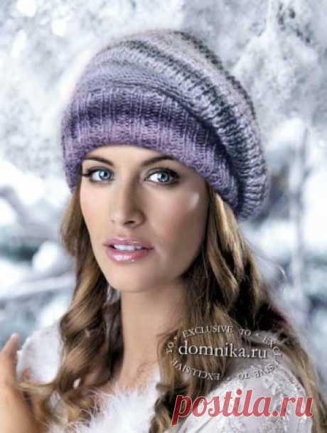 Женские вязаные шапки на осень модные модели со схемами вязания спицами