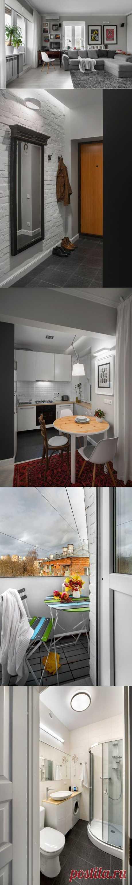 (+1) тема - Компактный дизайн квартиры   Школа Ремонта