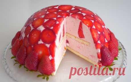 Торт «Клубничная горка» - всего 145 ккал в 100 граммах » Женский Мир
