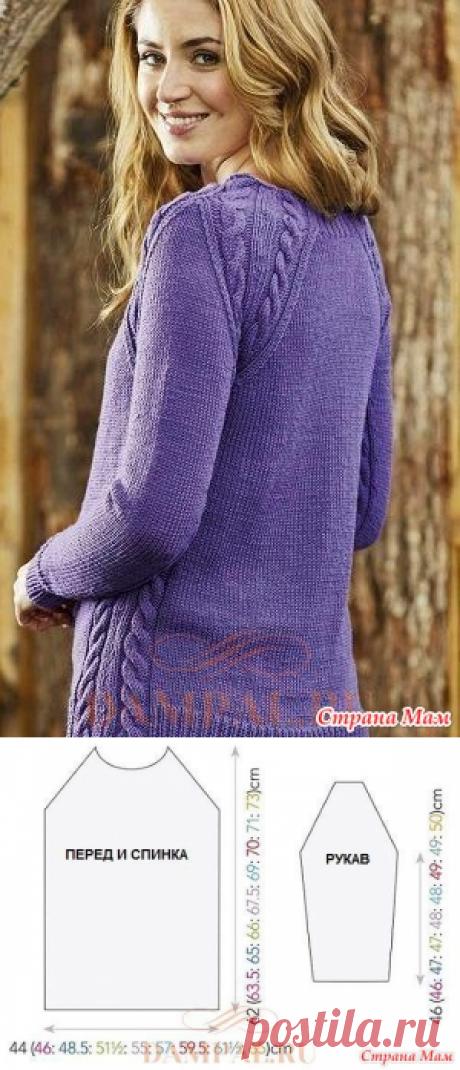Пуловер реглан «Purple Haze» - Вязание - Страна Мам