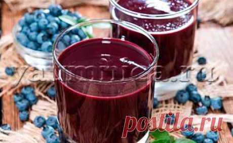 Черничный сок: приготовление, польза, лечебные свойства