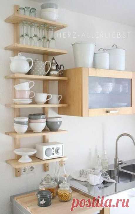Открытые полки на кухню
