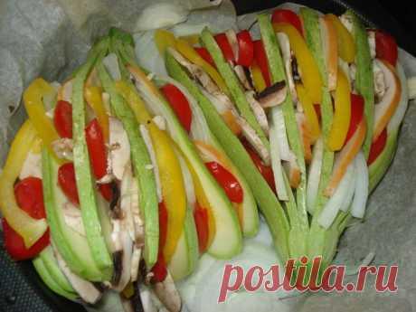 Классный ужин для семьи: кабачковый веер - funpage.win ✨ИНГРЕДИЕНТЫ:✨ 2 молоденьких (маленьких) кабачка 3 небольших помидора 2-3 крупных шампиньона 1...