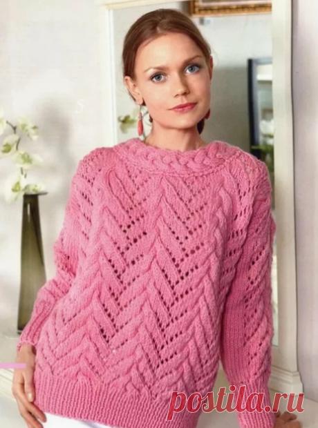 94 вязаных свитерa спицами 2020/2021