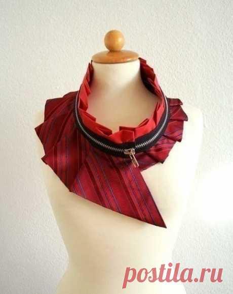 Креативные идеи из мужских галстуков