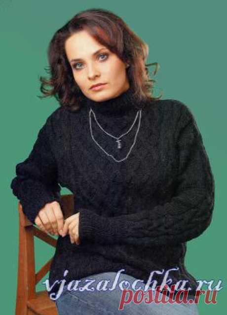 Вязание для полных женщин свитера спицами