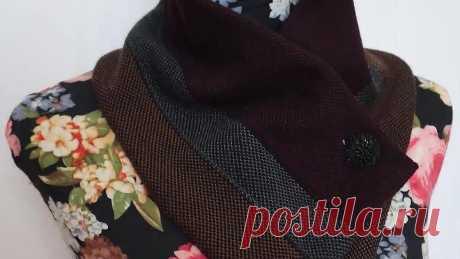Не выкидывайте старый свитер. Всего за пару часов сшила из него настоящую красоту на осень