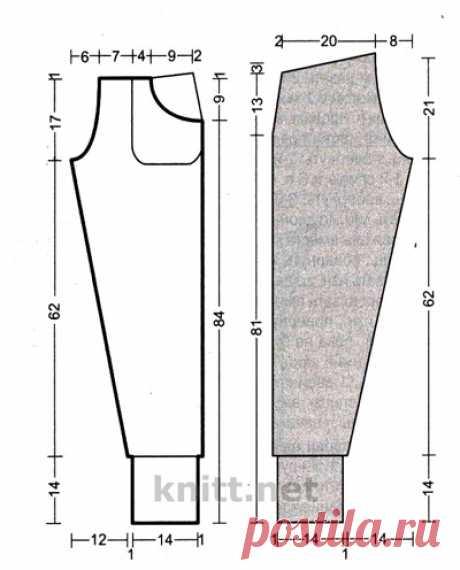 Вязаные спицами брюки