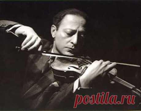 Яша Хейфец. Первая скрипка – Ришоним