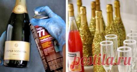 Как украсить шампанское на Новый год. Я влюбился в эту идею с первого взгляда! — Копилочка полезных советов