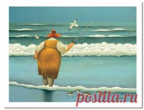 """Surfsize Fishing"" by Lowell Herraro"