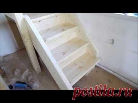 Установка лестницы в не простых условиях часть 2