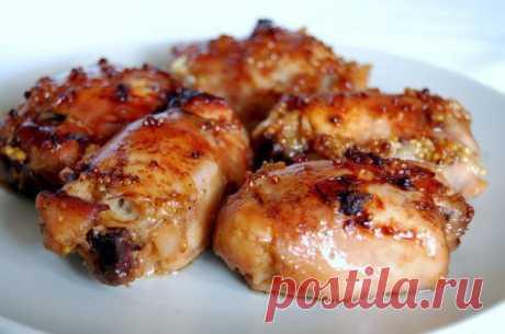 Курица, маринованная в горчично - медовом соусе | Про рецептики - лучшие кулинарные рецепты для Вас!