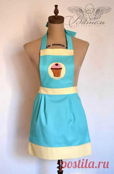 Мастер-класс смотреть онлайн: Очаровательный фартук с пироженкой для дочки | Журнал Ярмарки Мастеров