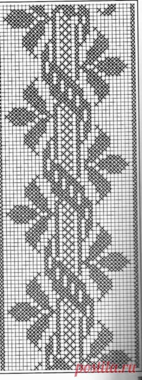 крючком филейка схемы