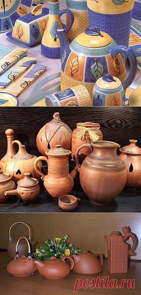 Глиняная посуда создает уют / Домоседы