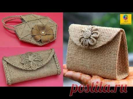 3 DIY Jute Bag - How to Make Handmade Jute Bag | DIY Purse Making | Ladies HandBag with Jute Rope