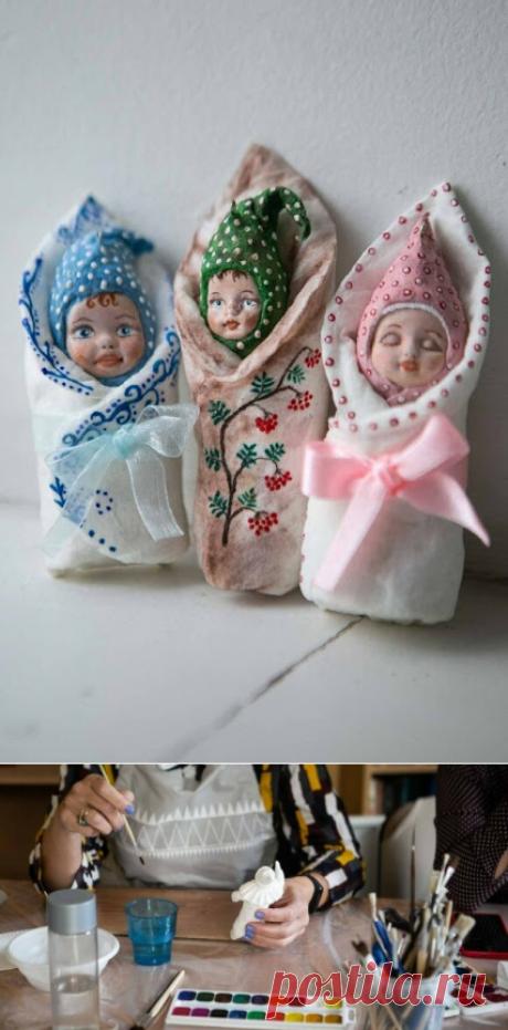 ВСЕ СВЯЗАНО. ROSOMAHA.: Елочные игрушки из ваты своими руками. Легко и красиво!