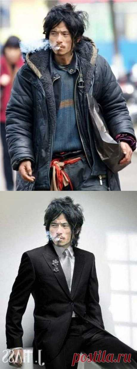 Невероятная история китайца Чен Гу Джона – от обычного бомжа до звезды интернета и модели…