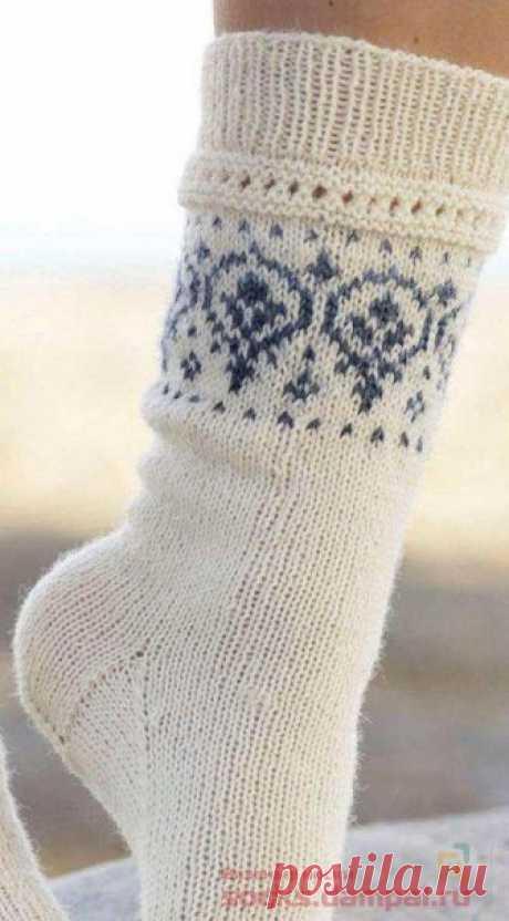 Вязаные носки «Nordic Summer» | ВЯЗАНЫЕ НОСКИ