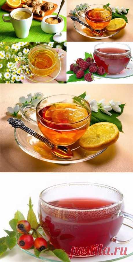 11 целебных напитков от простуды.