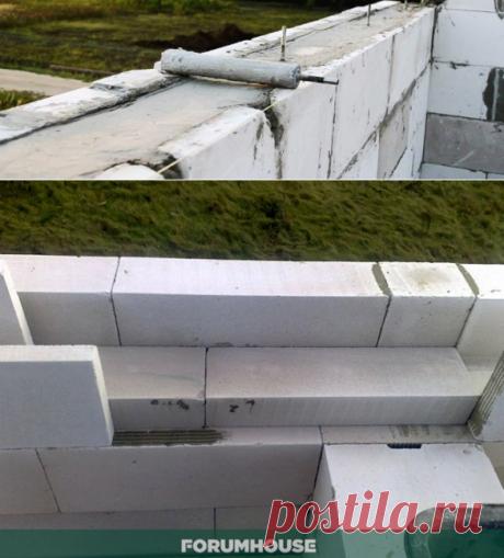 La consecuencia de los pasos a la fabricación independiente del encofrado para zalivki armopoyasa en gazobetonnom la casa. - la casa y la construcción - el Artículo - FORUMHOUSE