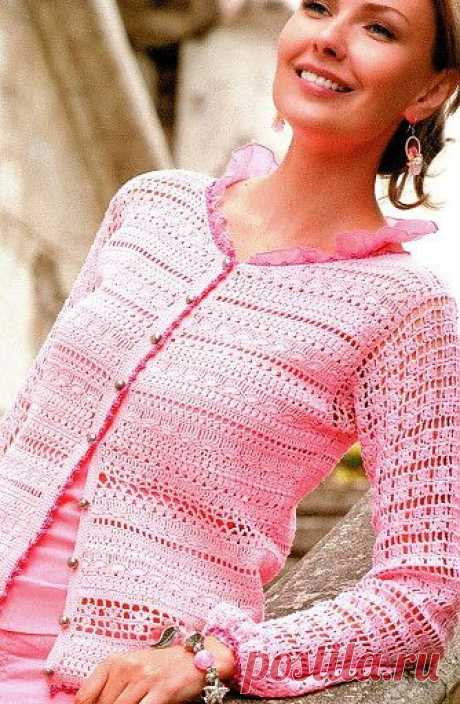 Женская кофта крючком / Женская одежда крючком. Схемы. / PassionForum - мастер-классы по рукоделию
