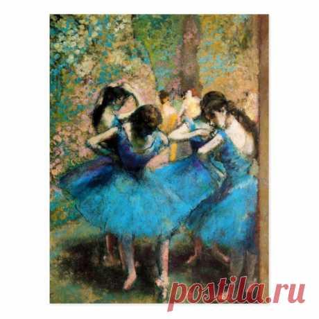 Degas Blue Dancers Postcard | Zazzle.com