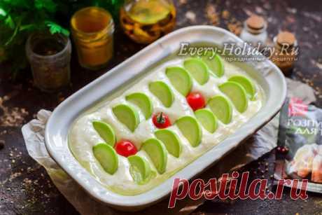 Заливной пирог с кабачком на кефире - рецепт с фото пошагово