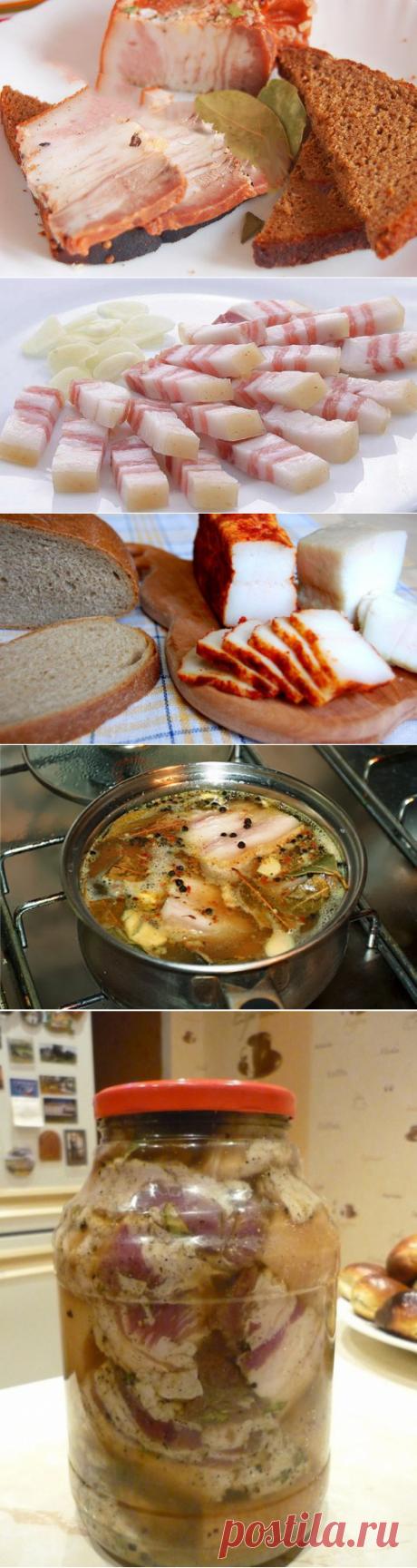 """Сало соленое в рассоле холодным и горячим способом - два рецепта засолки сала """"мокрым"""" способом. » Сусеки"""